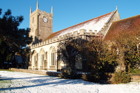 St Mary's in snow
