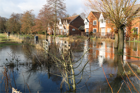 Flood at Town Mill